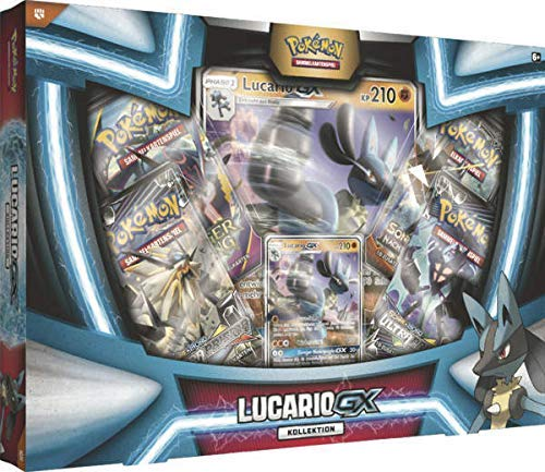 Lively Moments Pokemon Karten Lucario-GX Kollektion DE Deutsch Promo Sammelkarten Spielkarten - Karten-set-box Pokemon