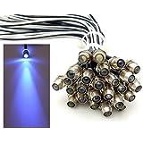 10x LED Lichtpunkt Sternenhimmel Aluminium IP68 Wasserdicht Verbrauch 0,2 Watt pro Lichtpunkt dimmbar Einbau Spot Schraube Licht Punkt Deckenleuchte Deko Lichtfarbe : Blau