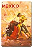 Pacifica Island Art Póster de Viaje de México - Bullfighting Matador - Vintage Mundo por Carlos Ruano Llopisc.1944 - Fine Art Print