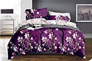 Kingsize bedsheet 6pcs one set two side reversible color high cotton bedding set duvet cover washable with fit