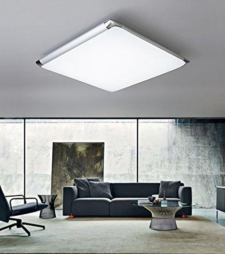 Natsen® 24W Moderne LED Deckenlampe mit Fernbedienung voll dimmbar Lampe geeignet für Flur, Wohnzimmer, Küche, Bad etc. (450mm x 450mm)