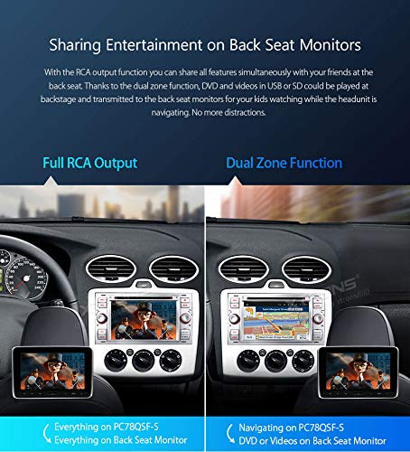 XTRONS-7-Android-Autoradio-mit-Touchscreen-Android-81-Quad-Core-DVD-Player-Autostereo-3G-4G-Full-RCA-Ausgang-Bluetooth50-Auto-Musik-Streaming-16GB-ROM-DAB-OBD2-TPMS-FR-Ford