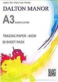 DALTON MANOR A3 TRACING PAPER CHOICE OF 25/50/100 & 250 SHEETS PACKS (50)
