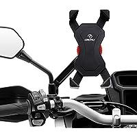 Grefay Fahrrad Handyhalterung, Edelstahl Motorrad Fahrrad Handy Halterung Outdoor Motorrad Fahrrad Lenker Mit 360 Drehen Für 3,5-6,5 Zoll Smartphone GPS Andere Geräte