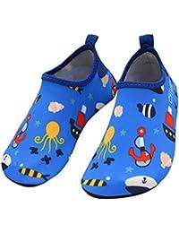 Easondea Zapatos de Agua de Natación para Niños Calcetines de Aqua  Descalzos Piscina de Playa Zapatos 0a50a44f8eb