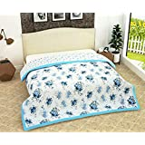 Kritarth Handicrafts Dohar Cover Floral Print Reversible Soft Heavy Duty Quality AC Comfort | Single Bed Dohar (Multicolor)
