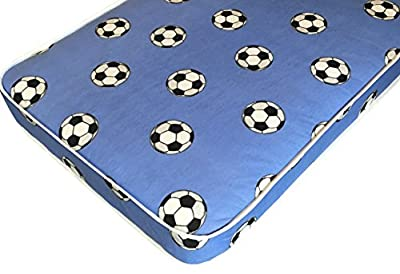 "6"" Firmer All Foam Kids Blue Football Mattress includes Euro Ikea Sizes"