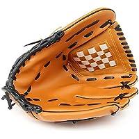 AchidistviQ - Guante de béisbol Grueso para Entrenamiento, con Jarra de béisbol, Guantes de béisbol para niños y Adultos, Color marrón, tamaño Small