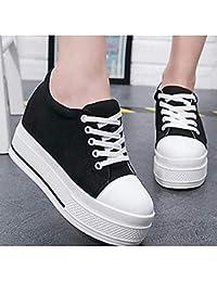 TTSHOES Damen Schuhe Leder SpringHerbst Creepers Sneaker