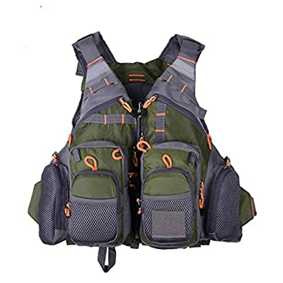 HzDirect Fly Fishing Vest Safety Life Jacket Breathable Mesh Fishing Backpack for Men Women Swimming Sailing Boating Kayak Floating by HzDirect