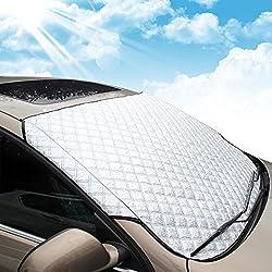 MATCC Couverture Pare-Brise Voiture Bache Pare Brise Pare-Soleil Anti Givre Pare-Brise Avant Voiture Anti UV Repliable 146cm X 102cm
