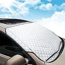 MATCC Protector de Parabrisas Cubierta de Nieve y de Sol Antihielo Funda de Parabrisa Universal para
