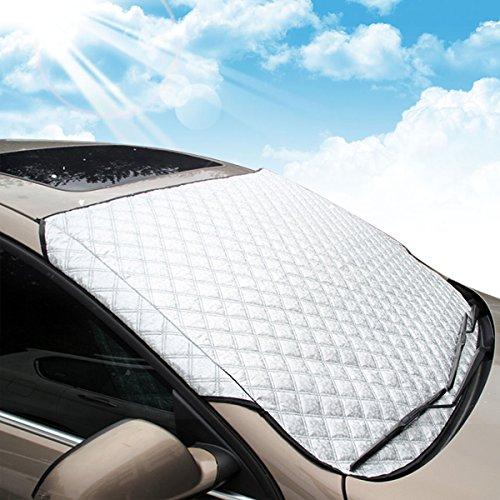 Autoscheibenabdeckung Auto Sonnenschutz Frontscheibe MATCC Frontscheibenabdeckung Sonnenschutz Scheibenabdeckung Auto Windschutzscheibe UV-Schutz Scheibenschutz (146x102cm) NICHT WASSERABWEISEND