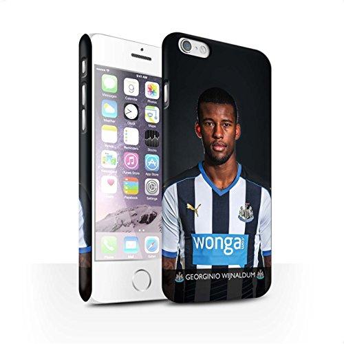 Offiziell Newcastle United FC Hülle / Matte Snap-On Case für Apple iPhone 6S / Pack 25pcs Muster / NUFC Fussballspieler 15/16 Kollektion Wijnaldum