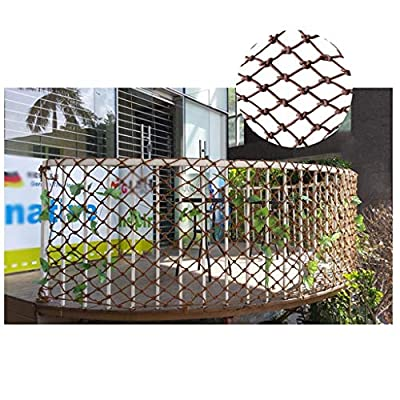 Nylon Rope Mesh Brown, Stairs Anti-fall Net Children Safety Net Balcony Barrier Net Garden Decoration Net Kindergarten Playground Fence Net Can Be Cut 1x2m3m4m (Size : 10 * 10M(33 * 33ft))