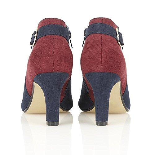 Lotus Femme caera en microfibre Bleu marine/bordo Lotus Chaussures Bottes multicouleur - Red & Blue