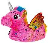 Beppi Einhorn Hausschuhe für Kinder - Pinke Mädchen Winter-Hausschuhe, 34