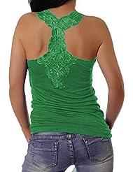 Muse - Camiseta sin mangas - para mujer verde Talla única