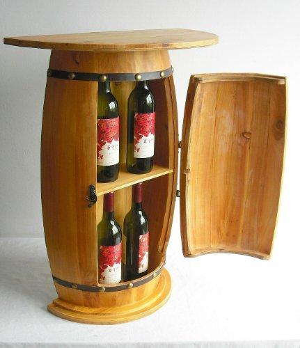 DanDiBo Wandtisch Tisch Weinfass 0373 Schrank Weinregal Fass aus Holz
