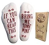 "Haute Soiree Luxus gekämmte Baumwolle Bring Me Wine"" Wein Socken"