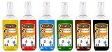Cléopâtre - EAD100PX6A - Encres à Dessiner - Lot de 6 Flacons Nacrée Assortiment de couleurs - Flacons de 250 ml