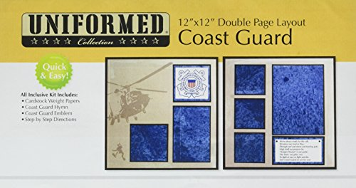 UNIFORMED US Coast Guard Layout-Set, 2 Seiten -