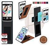 reboon Hülle für Oppo N3 Tasche Cover Case Bumper | Braun Leder | Testsieger