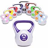 KettleBell »PowerMonster« Kugelhantel 2kg bis 20 kg / Handgewicht aus Kunststoff / High Performance Studio-Qualität ideal für Krafttraining, Functional-Training, Gymnastik und Heimtraining / 12kg / lila