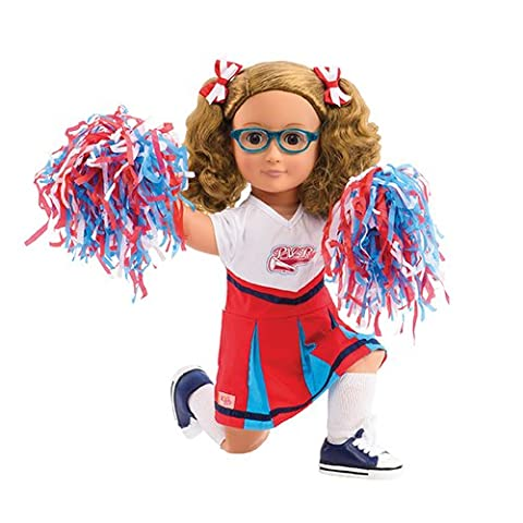 Our Generation Juliet and The Jumpstart Squad 18-inch Poseable Doll, Chapter Book and Cheerleading Set by Our Generation