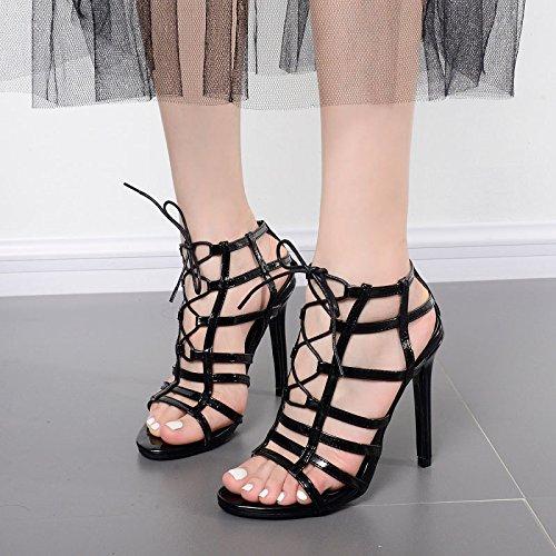 ZYUSHIZ High-Heel den minimalistischen Stil Occidental Frau Sandalen Hausschuhe 37EU
