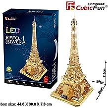 Cubicfun LED XL oro Torre Eiffel 89piezas 3d Jigsaw Puzzle