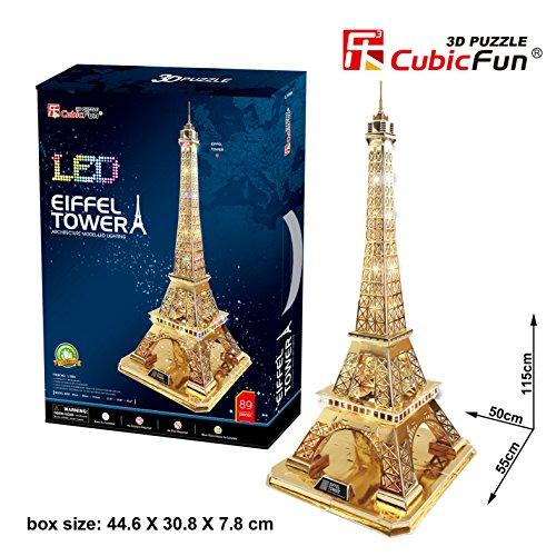 3D Puzzle Tour Eiffel Paris LED Eiffelturm Paris Gold Cubic Fun Eiffel Tower France