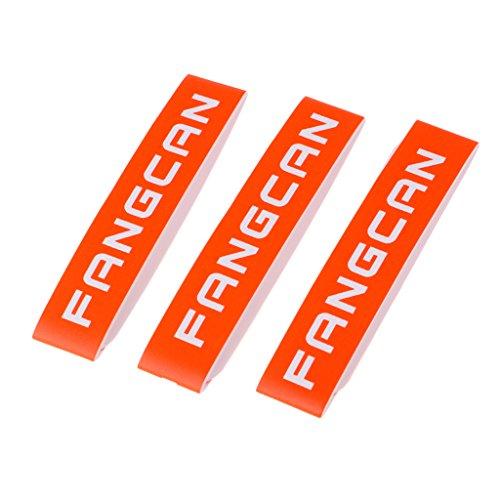 SM SunniMix Universal 3pcs Badmintonschläger Racket Frame Protection Oberkante Tape Guard - Orange