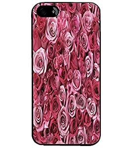 PrintDhaba Roses D-5514 Back Case Cover for APPLE IPHONE 4 (Multi-Coloured)