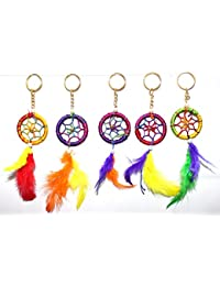 Odishabazaar Dream Catcher For Car Or Home Wall Hanging Keychain Pack Of 5