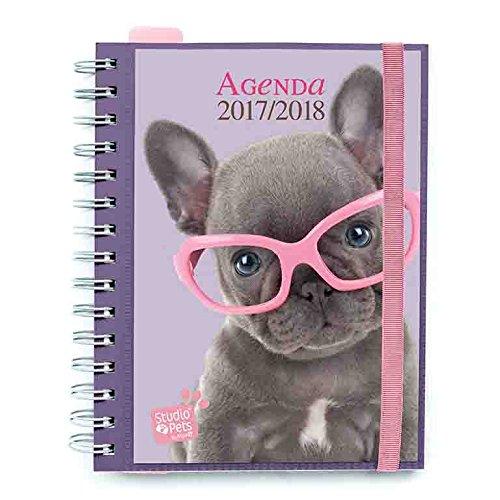 Grupo Erik Editores AGVSV1704 - Agenda escolar 2017-2018, semana vista, diseño Studio Pets Dog