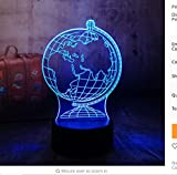 3D Erde Globus Led Visuelle Bunte Nachtlicht Illusion Tabelle Baby Schlaf Nachtlampe Kind Kind Urlaub Weihnachtsgeschenk
