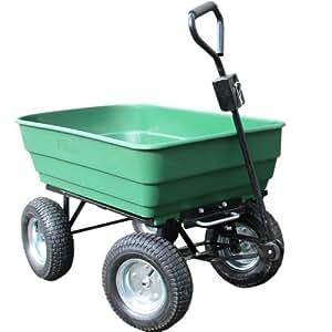 Carrello a mano da giardino rimorchio 125l 4 ruote for Brouette 4 roues pour jardin