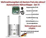JOSTechnik Automatische Hühnerklappe+Zeitschaltuhr+Funkfernbedienung+Klappe - Weihnachtsaktion !!