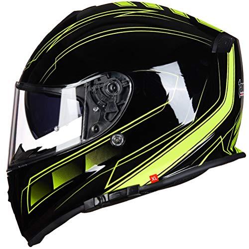 Unisex Adulto Tanque Casco de la Motocicleta Antifogging de Doble Lente Cascos...