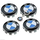 datex-bm Nabenkappe BMW 68 mm,EIN Kostenloser Schlüsselbund enthalten,weiß/blau, für Radzylinder, Nabenabdeckung Felgen-Emblem, Nabenkappen,4 Stück Logo Series 1 3 4 5 6 7 8 x1 X3 X4 X5 X6 Z3 Z4