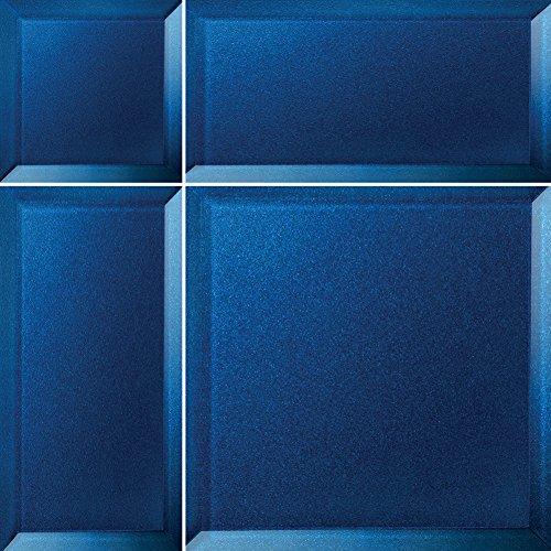Alfa de CER 5902027022735 bisselglas Verre Carrelage avec Bord Oblique, Verre, Bleu Azur métallisé, 29,8 x 29,8 cm