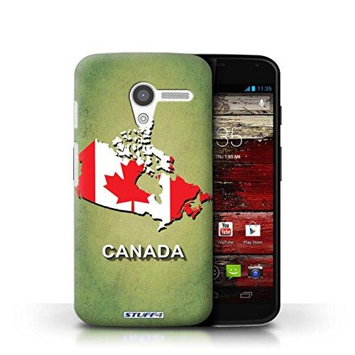 Kobalt® Imprimé Etui / Coque pour Motorola MOTO X / Afrique du Sud/Afrique conception / Série Drapeau Pays Canada