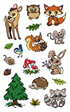 Avery Zweckform Metallic Sticker 17 Etichette, motivo animali della foresta