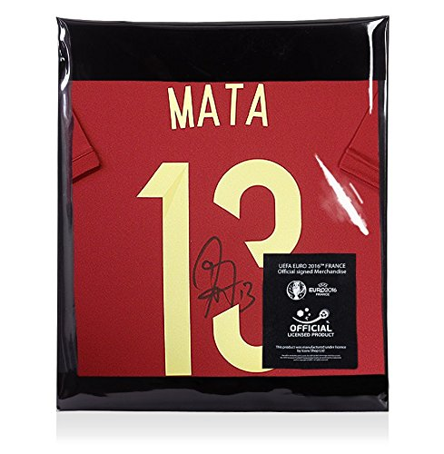 Juan-Mata-Official-UEFA-EURO-2016-Back-Signed-Spain-2014-Home-Shirt