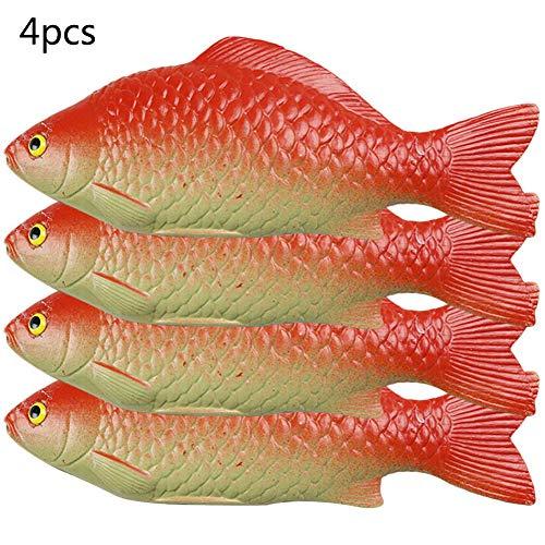 Peces artificiales, 4 unidades de peces vivos y realistas para fiestas en el hogar, mercado