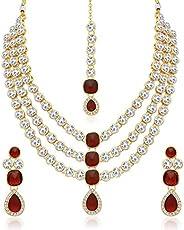 Sukkhi Modish Gold Plated Wedding Jewellery Kundan Multi-String Necklace Set for Women (N73517_D1)