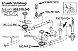 Ablaufgarnitur für Franke PMX 654 E Spüle mit Integralablauf / Exzenter Siebkorbgarnitur / Ersatzteil