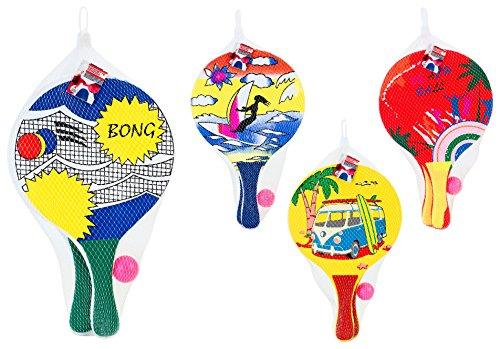 Preisvergleich Produktbild Globo Toys Globo–3761224x 38x 0,8cm 4sortiert Sommer Strand Schläger mit Ball