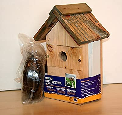 CCTV CAMERA IN GARDMAN MULTI NESTBOX. RSPB recommends V-shape birdboxes of this type! by GARDMAN/BIRDBOXVIEW